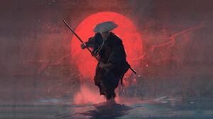 Artwork Samurai 3840x2160 wallpaper