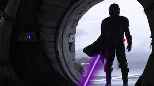 The Mandalorian Star Wars Mandalorians Neon Neon Photo Snow PQnos 2048x1365 wallpaper