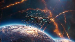 Guardians Of The Galaxy Vol 2 Spaceship 2158x1136 wallpaper