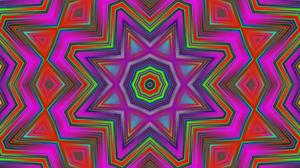 Artistic Colors Digital Art Kaleidoscope Pattern Shapes Star 1920x1080 Wallpaper