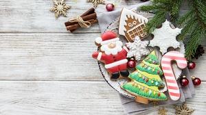 Christmas Christmas Ornaments Cinnamon Cookie Gingerbread Still Life 5589x3741 Wallpaper