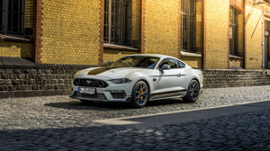 Ford Ford Mustang Mach 1 Car Vehicle Muscle Cars White Cars Street Cobblestone 5120x2880 Wallpaper
