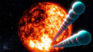 Pendulum Abstract 3D Abstract Space Sun Stars Balls Red Sun Blender 1920x1080 Wallpaper