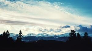 Mountain Blue Cloud Sky Tree 2560x1440 Wallpaper
