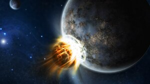 Collision Planet Space 1440x900 Wallpaper