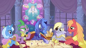 Big Mcintosh Derpy Hooves Princess Luna Trixie My Little Pony 3360x2100 wallpaper