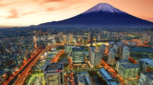 Building City Cityscape Japan Mount Fuji Skyscraper Yokohama 6000x4064 Wallpaper