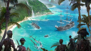 Coast Pirate Ship Undead Warrior Wreck 4000x2667 Wallpaper