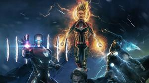 Avengers Avengers Endgame Brie Larson Captain America Captain Marvel Chris Evans Chris Hemsworth Iro 3200x1800 Wallpaper