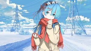 Re Zero Kara Hajimeru Isekai Seikatsu Rem Re Zero Blue Hair Blue Eyes Anime Anime Girls 1920x1080 wallpaper