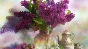 Cup Lilac Mirror Pitcher Purple Flower Still Life Vase 2048x1655 Wallpaper