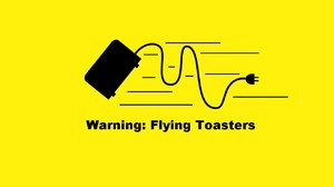 Humor Minimalism Quote Yellow Background Toaster 1280x800 Wallpaper