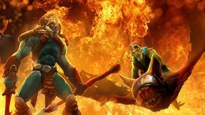 Fire Flame DotA Batrider Dota 2 2560x1440 Wallpaper