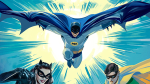 Adam West Batman Bruce Wayne Burt Ward Catwoman Dc Comics Dick Grayson Julie Newmar Robin Dc Comics  2000x1380 Wallpaper