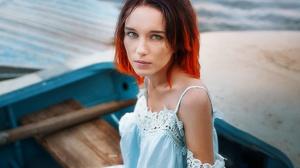 Maria Larina Face Portrait Freckles 2560x1707 Wallpaper