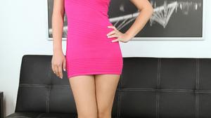 Women Asian Long Hair Dark Hair Indoors Pink Dress Pink Heels 2000x3000 Wallpaper