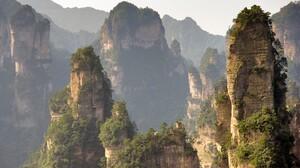 Landscape Zhangjiajie National Park China Cliff Rock Formation Mountains 1600x1200 wallpaper