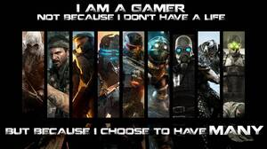 Video Game Collage 5760x1080 wallpaper