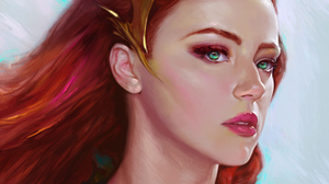 Mera Dc Comics Dc Comics Green Eyes Face Red Hair 1920x1080 Wallpaper