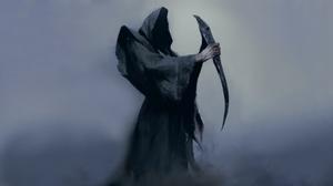 Death Artwork Robes Sickle 3840x2160 Wallpaper