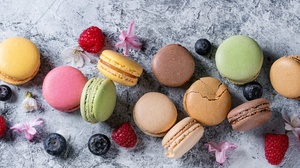 Berry Macaron Still Life Sweets 5184x3456 wallpaper