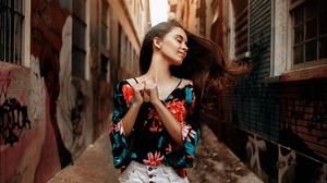 Brunette Depth Of Field Girl Model Mood Woman 2048x1285 Wallpaper