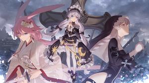 Anime Anime Girls Digital Art Artwork 2D Portrait 1843x1037 wallpaper