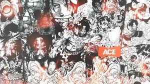 One Piece Portgas D Ace Fire Collage Comics Manga Text 1920x1080 Wallpaper