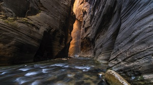 Canyon Cliff Nature River 3659x2344 Wallpaper