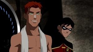 Wally West Robin Dc Comics Dick Grayson Green Eyes Boy Red Hair Black Hair 1920x1080 Wallpaper