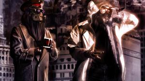 Comics Gas Mask Romantically Apocalyptic 1920x1200 wallpaper