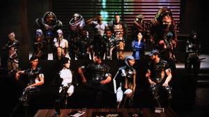 Mass Effect Garrus Vakarian EDi Mass Effect Jack Mass Effect TaliZorah Grunt Mass Effect James Vega  1920x1080 Wallpaper