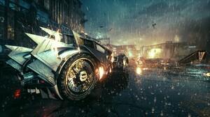Batman Arkham Knight Batmobile Video Games Screen Shot Batman Rain 3840x2160 Wallpaper