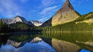 Lake Mountain Nature Peak Reflection 2700x1680 Wallpaper