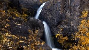 Nature Rock Water Waterfall Outdoors Long Exposure Fall 2560x1707 Wallpaper