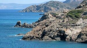 Nature Rock Greece Sea Water 1680x1050 wallpaper