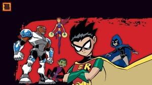 Beast Boy Cyborg Dc Comics Dick Grayson Raven Dc Comics Robin Dc Comics Starfire Dc Comics Teen Tita 1920x1080 Wallpaper