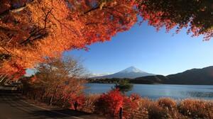 Fall Japan Mount Fuji Volcano 2880x1900 Wallpaper