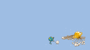 Humor Planet Moon Simple Background 1440x900 Wallpaper