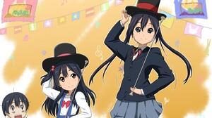 Anime Girls Long Hair Dark Hair K ON Azuki Azusa Skirt Top Hat Twintails Schoolgirl Tamako Market Ki 1485x1050 Wallpaper