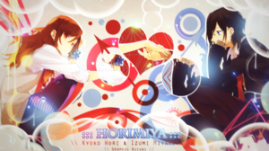 Horimiya Kyouko Hori Izumi Miyamura Manga Anime Romance Love Brunette Brown Eyes Blue Eyes Holding H 1920x1080 Wallpaper