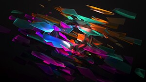 Abstract Minimalism Drawing Simple Bars Colorful Digital Art Effects Artwork 5120x2880 wallpaper