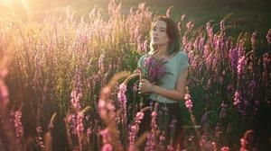 Flower Girl Maria Larina Meadow Model Mood 2560x1707 Wallpaper