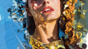Andrei Riabovitchev Artwork ArtStation Women Face Portrait 2078x2555 wallpaper