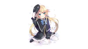 Girl Original Anime Cap Long Hair Blonde Twintails Blue Eyes 1920x1119 Wallpaper