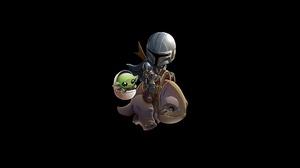 Minimalism Star Wars Baby Yoda The Mandalorian 4000x2048 Wallpaper