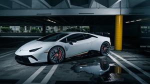 Car Lamborghini Lamborghini Aventador Sport Car Supercar Vehicle White Car 3840x2160 Wallpaper
