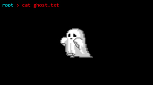 Pixel Art Pixels Ghost Minimalism Black Dark Root Linux Shell Code 1920x1080 Wallpaper