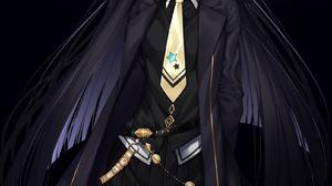 Uma Musume Pretty Derby Long Hair Yellow Eyes Looking At Viewer Bangs School Uniform Black Clothing  1605x2214 Wallpaper