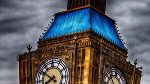 HDR London Big Ben Clocktowers Disney 3840x5760 wallpaper
